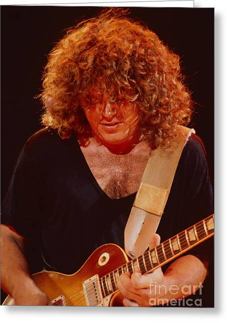 Gary Richrath Of Reo Speedwagon At Oakland Auditorium 1979 Greeting Card