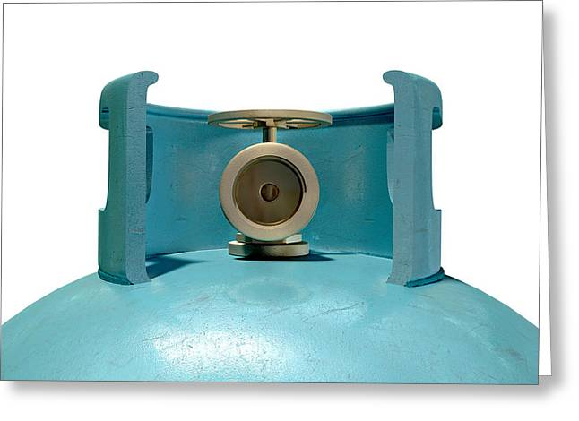Gas Cylinder Valve Closeup Greeting Card