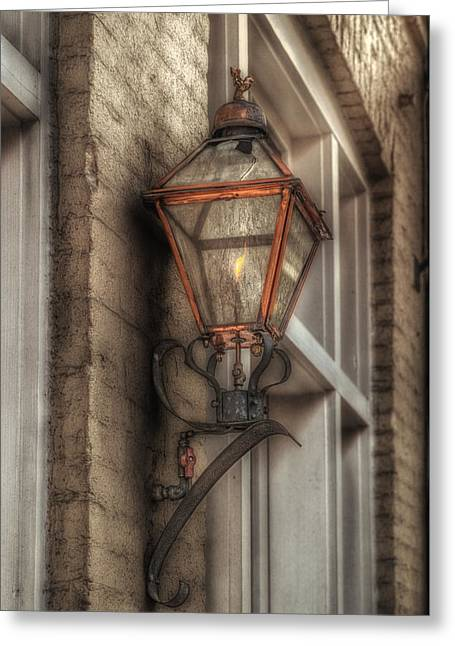 Gas Light Of New Orleans Greeting Card