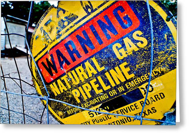 Gas Pipeline Greeting Card