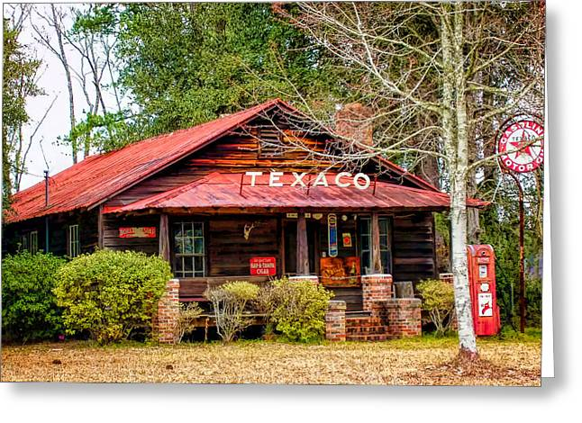 Greeting Card featuring the photograph Gas Station 1 by Dawn Eshelman