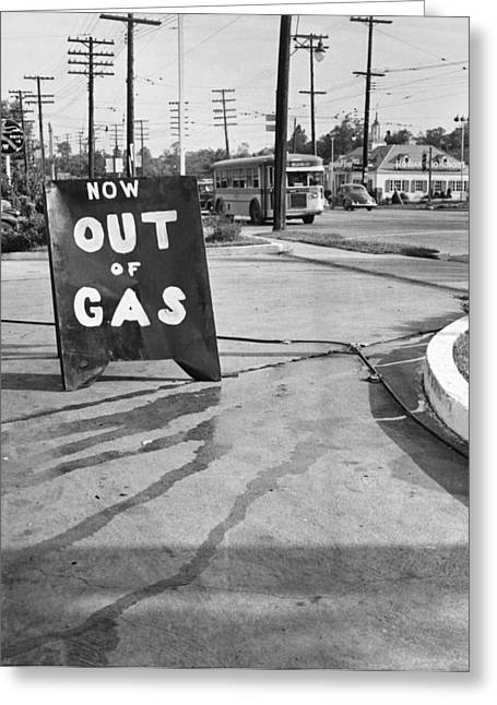 Gas Station, 1942 Greeting Card by Granger