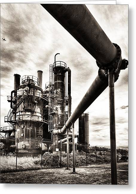 Gas Works Greeting Card