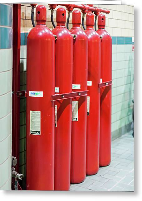 Gaseous Fire Suppression Cylinders Greeting Card
