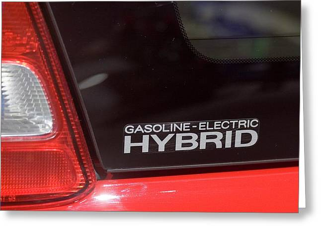 Gasoline-electric Hybrid Car Greeting Card