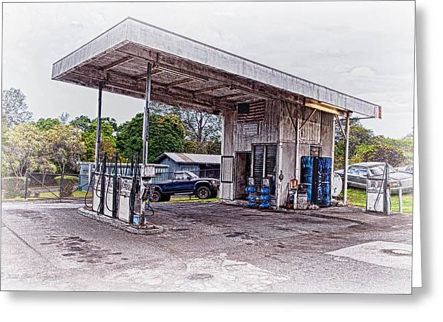 Greeting Card featuring the photograph Gasoline Station by Jim Thompson