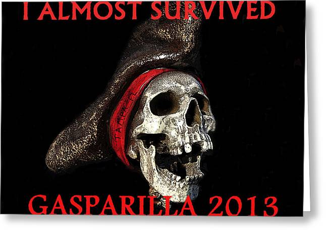 Gasparilla 2013 Postertshirt Work B Greeting Card