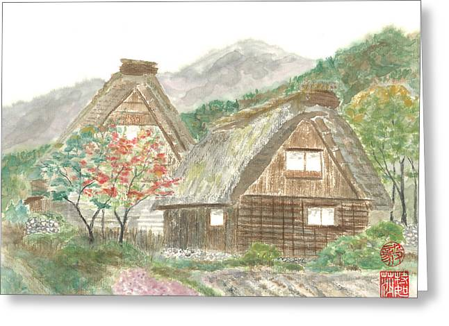 Gassho-zukuri Home Greeting Card