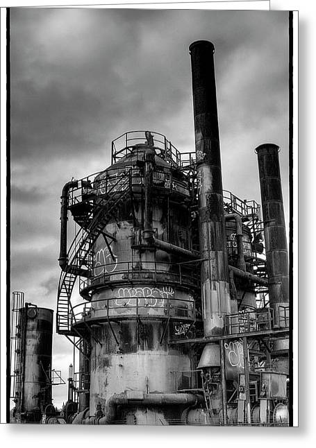 Gasworks Park Greeting Card by David Patterson