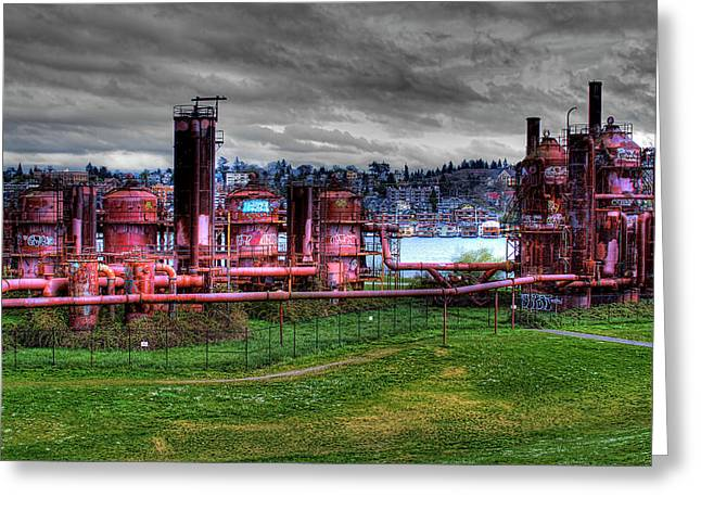 Gasworks Park Seattle Greeting Card