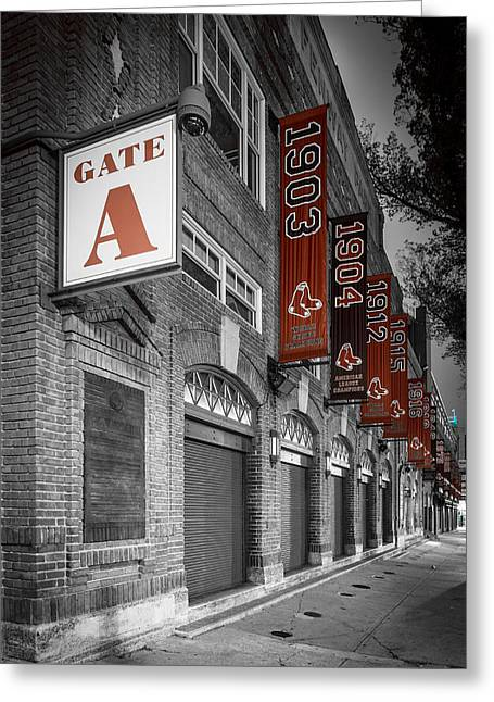 Gate A Greeting Card by Paul Treseler