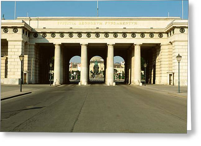 Gate, Hofburg Palace, Vienna, Austria Greeting Card by Panoramic Images