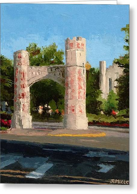 Gate On Parrington Oval At Ou Greeting Card
