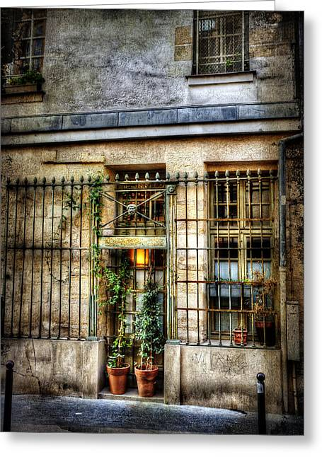 Gated Door Paris France Greeting Card