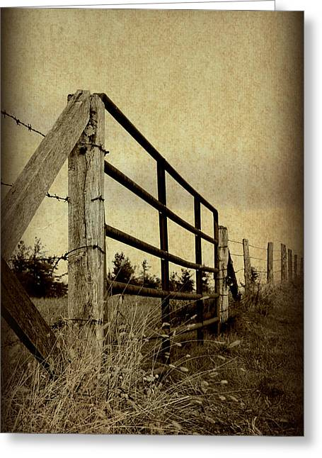 Gated Field Greeting Card