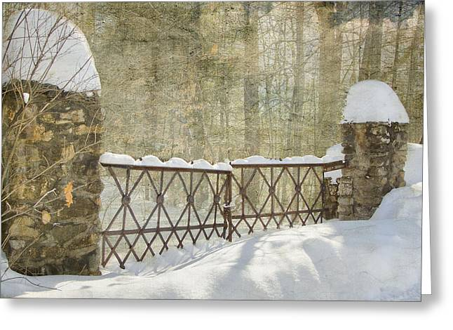 Gated In The Snow Greeting Card