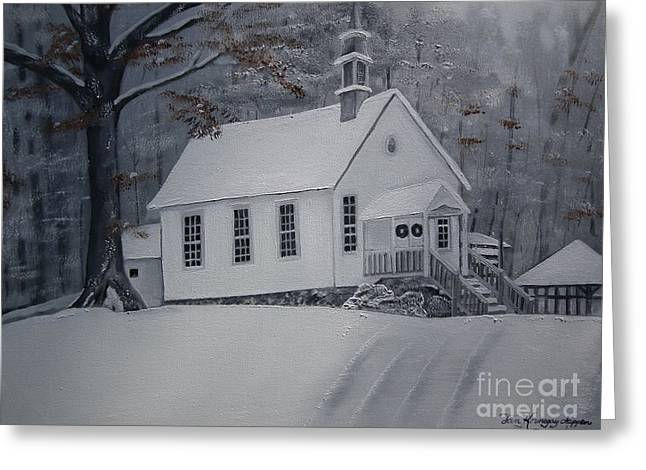 Gates Chapel - Ellijay - Signed By Artist Greeting Card