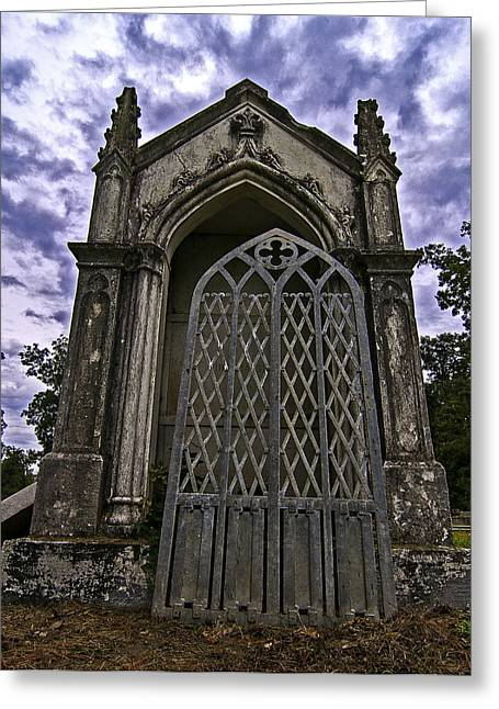 Greeting Card featuring the photograph Gates Of Hades II by Andy Crawford