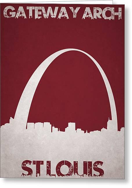 Gateway Arch Greeting Card by Joe Hamilton