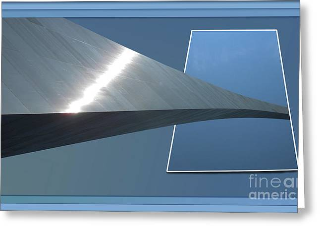 Gateway Arch St Louis 06 Greeting Card by Thomas Woolworth