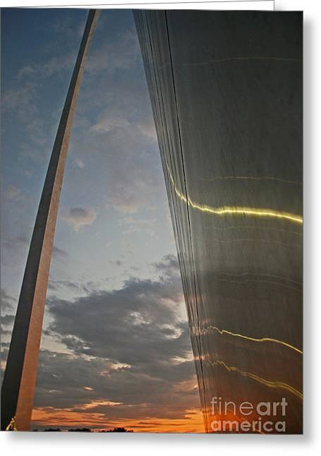 Gateway Arch Sunrise Greeting Card
