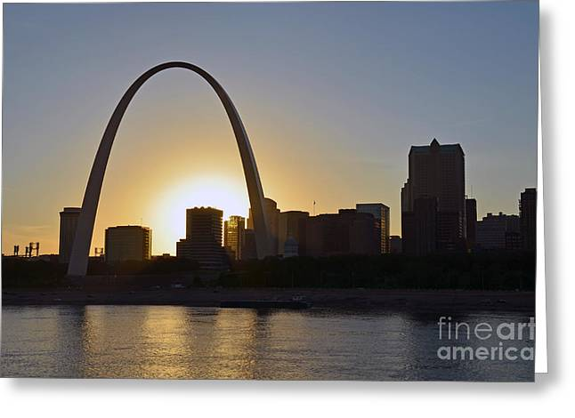 Gateway Arch Sunset Greeting Card