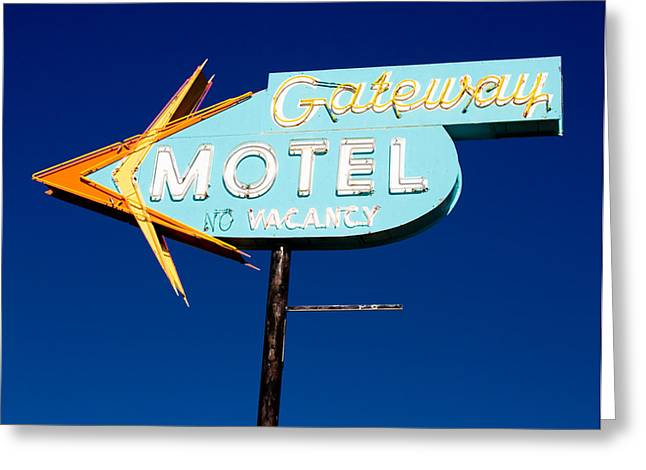 Gateway Motel Greeting Card