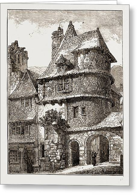 Gateway Near The Jacobin Church, Morlaix Greeting Card by Litz Collection