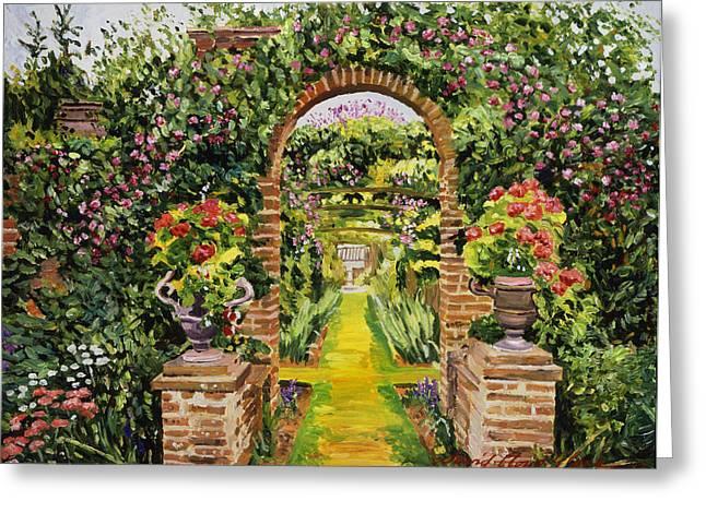 Gateway Of Brick Greeting Card by David Lloyd Glover