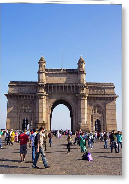 Gateway Of India Greeting Card by Mark Williamson