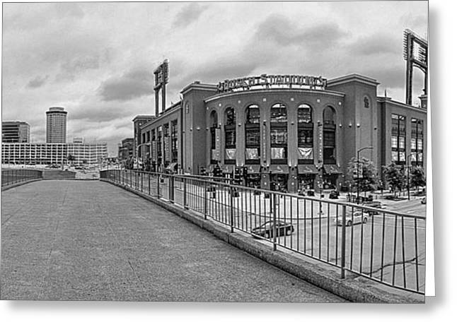 Gateway To Busch Black And White Greeting Card