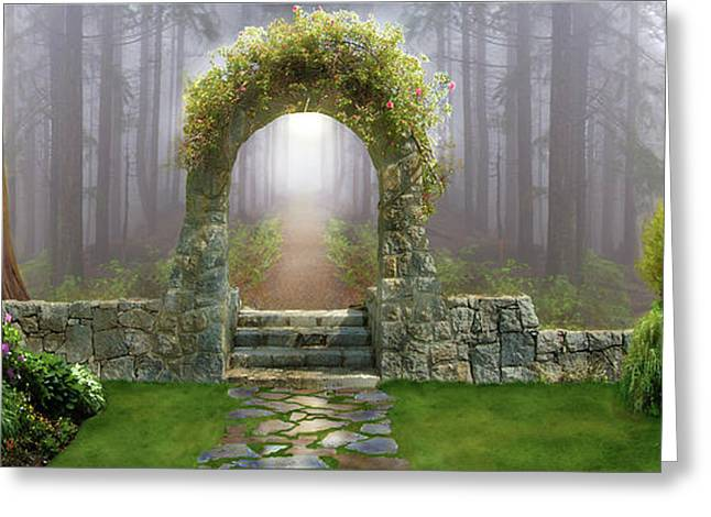 Gateway To Eternity Greeting Card by David M ( Maclean )