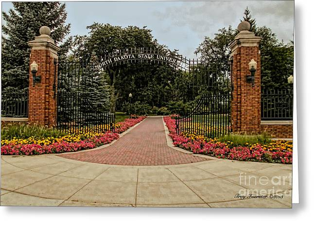Greeting Card featuring the photograph Gateway To Ndsu by Trey Foerster