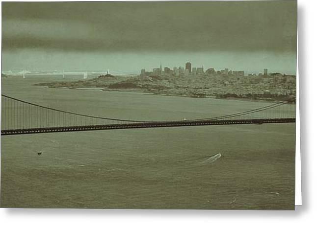Gateway To The Bay Greeting Card by Dave Hall