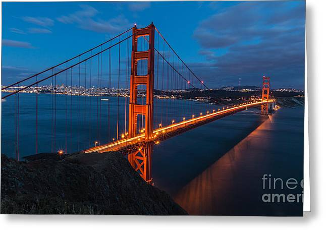 Greeting Card featuring the photograph Gateway To The City by Charles Garcia