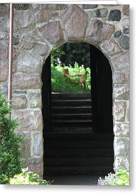 Gateway To The Garden Greeting Card