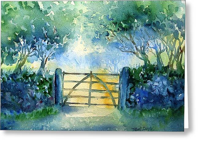 Gateway To The Harvest Field  Greeting Card by Trudi Doyle