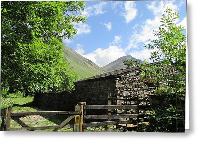 Gateway To The Hills Greeting Card by Kathy Spall