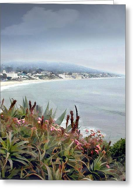 Gathering Coastal Storm Greeting Card by Elaine Plesser