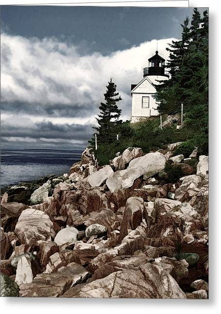 Gathering Coastal Storm In Maine Greeting Card by Elaine Plesser