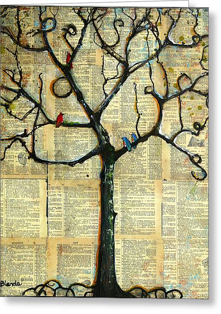 Gathering Place Winter Tree Greeting Card