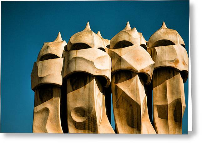 Gaudi's Soldiers  Greeting Card by Joanna Madloch