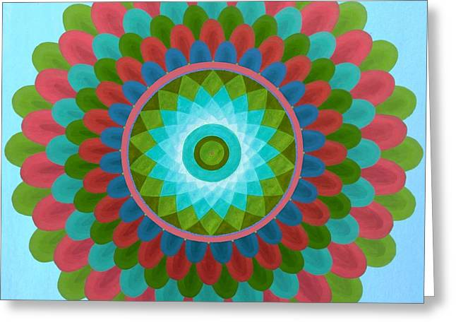 Gaudy Mandala Greeting Card by Vlatka Kelc