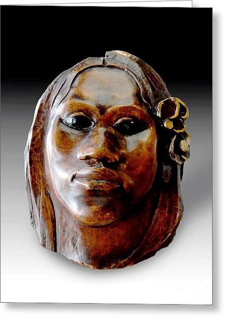 Gauguin Sculpture - Tehura Greeting Card by Pg Reproductions