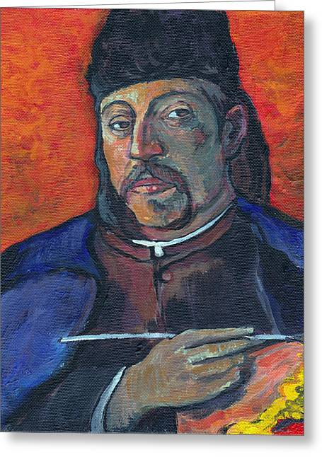 Gauguin Greeting Card by Tom Roderick