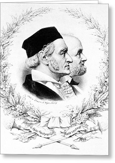 Gauss And Weber Greeting Card by Science Photo Library