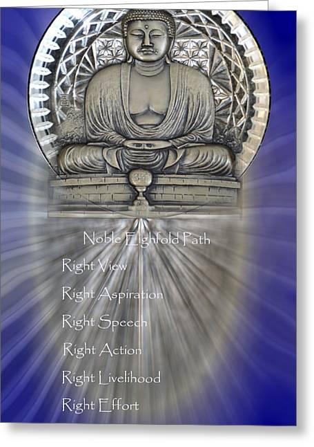 Gautama Buddha - The Noble Eightfold Path Greeting Card