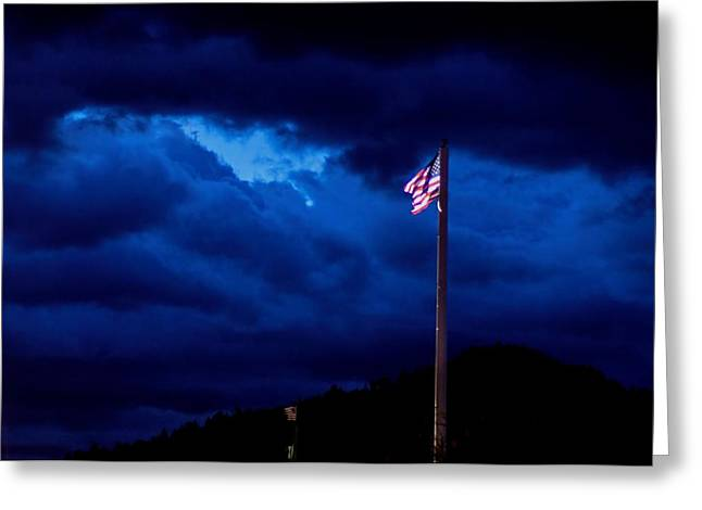 Gave Proof Through The Night That Our Flag Was Still There. Greeting Card