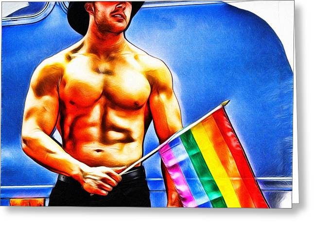 Gay Pride Greeting Card by Nishanth Gopinathan