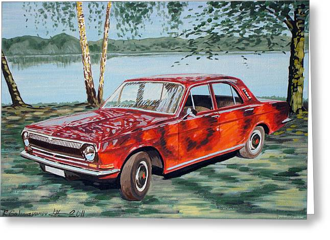 Gaz 24 Volga Greeting Card by Rimzil Galimzyanov